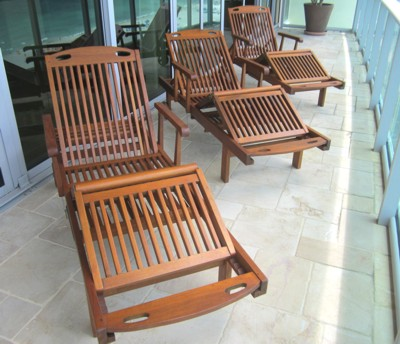 Deck Chair Restored by Shekina Carpentry